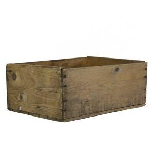 houten bak met tekst