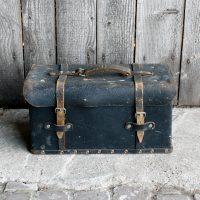 vintage leren gereedschapskoffer