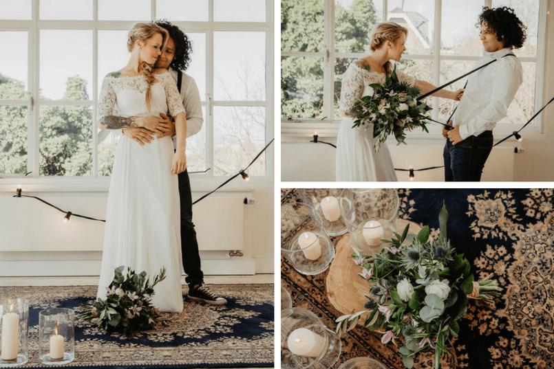 wedding shoot, industrial vintage